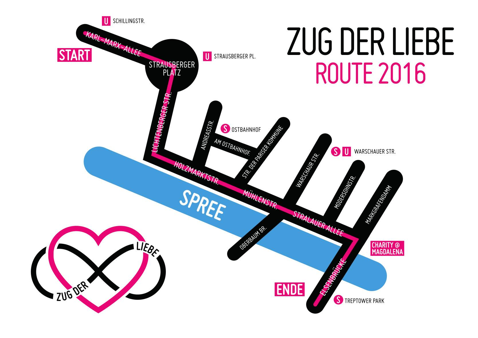 Route zug der Liebe