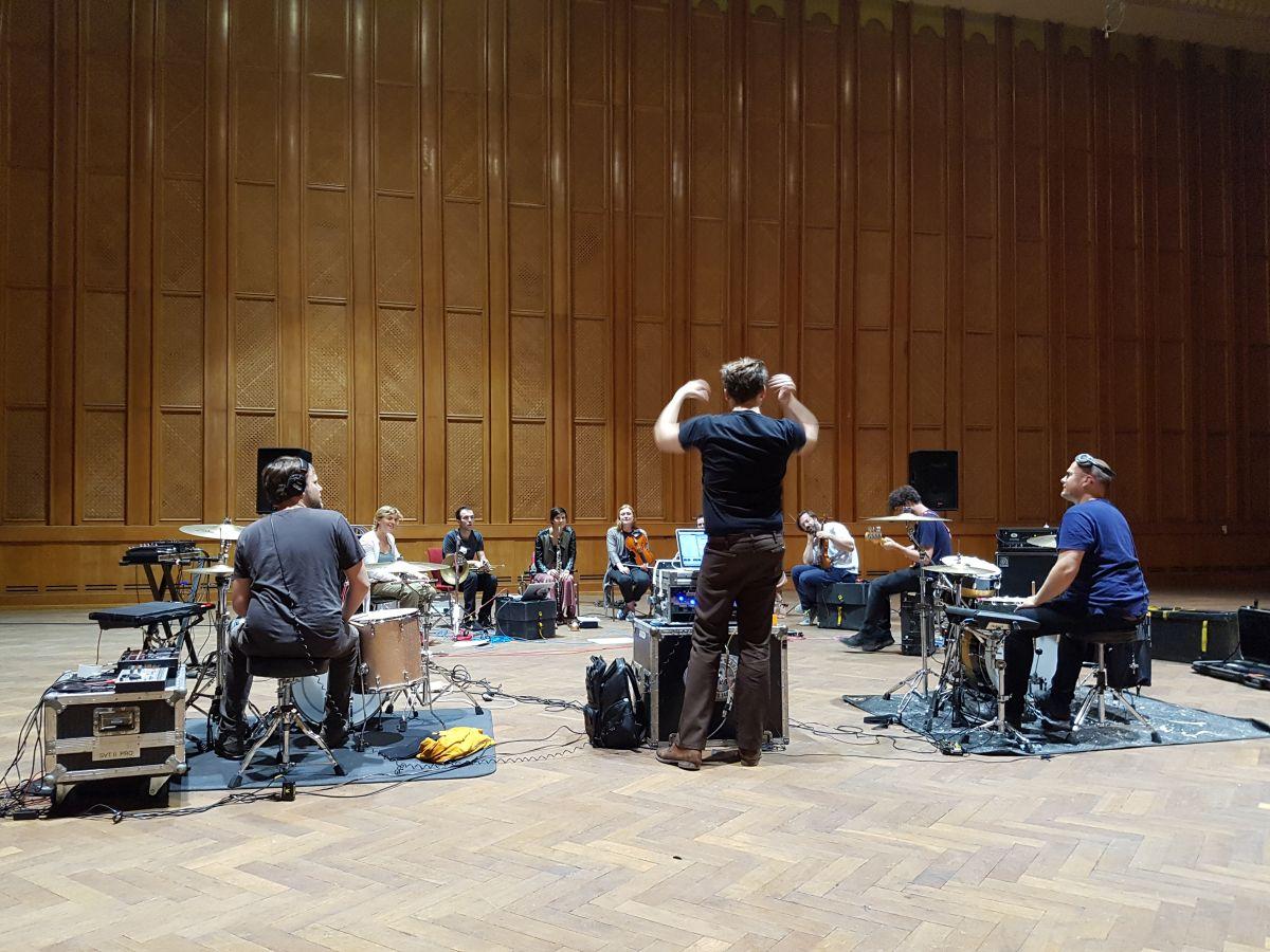 Proben beim Michelberger Music Festival